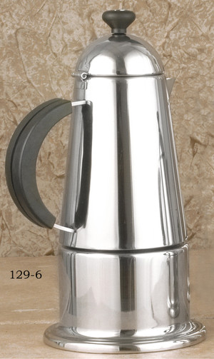 Carmen Stainless Steel Stove top espresso maker, 6-cup