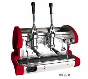 La Pavoni commercial Lever espresso machine 2 Groups Red