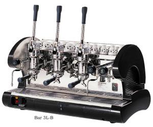 La Pavoni commercial Lever espresso machine 3 Groups Black
