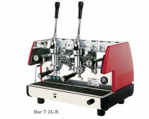 La Pavoni commercial Lever espresso machine Bar T 2 Groups Red