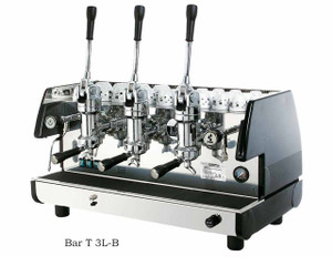 La Pavoni commercial Lever espresso machine Bar T 3 Groups Black