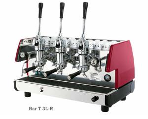 La Pavoni commercial Lever espresso machine Bar T 3 Groups Red