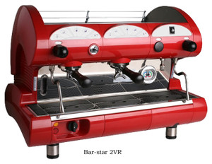 La Pavoni commercial Volumetric espresso machine Bar Star 2 Groups
