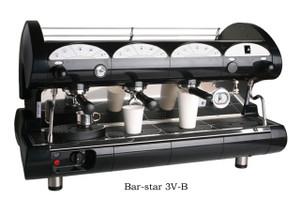 La Pavoni commercial Volumetric espresso machine Bar Star 3 Groups Black