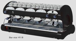 La Pavoni commercial Volumetric espresso machine Bar Star 4 Groups Black