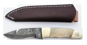Hunting Buck Knife w/Leather Sheath-NEW