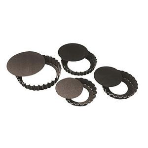 "Fluted N-Stick Tart Pan, Remo, DIA 4 3/4"" X H 3/4"""