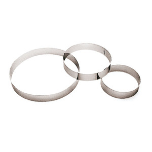 "Pastry Ring, Entremet, DIA 8 5/8"" X H 1 3/8"""