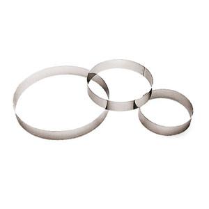 "Pastry Ring, Entremet, DIA 10 1/4"" X H 1 3/8"""