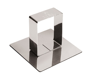 Pastry Ring Pusher, Square, Stainless Steel