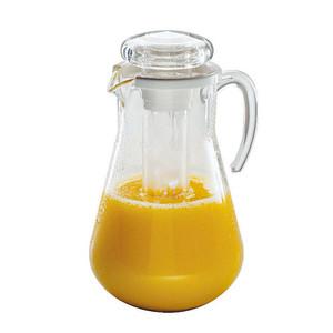 """Acrylic Juice Pitcher, W/ Ice, DIA 7 1/8"""" X H 11 1/2"""", 3 QT"""