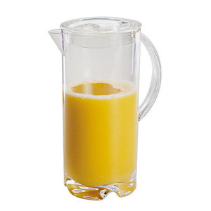 "Acrylic Juice Pitcher W/ Cap, DIA 4 1/2"" X H 10 1/4"", 2 1/8"