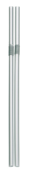 Flexible Straws, Silver, Pack of 500