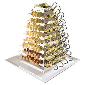 S/S Rotating Buffet Serving Pyramid, L 11.875 x W 11.875 x H 20.875