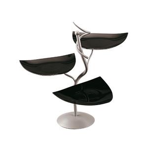 Black Three-Tier Buffet Display & bowls, L 22 x W 22 x H 22.375