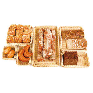 4 High Polyrattan Bread Basket - (1/4 ) , L 10.5 x W 6.25 x H 4