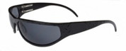 OutLaw Eyewear Felon Diamond Plate Aluminum Biker Motorcycle Aluminum Sunglass, Black frame with Gray lenses