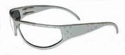 OutLaw Eyewear Felon Diamond Plate Aluminum Biker Motorcycle Aluminum Sunglass, Polished Aluminum frame with Extra Dark Transition lenses