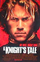 A KNIGHT'S TALE original issue rolled double sided 1-sheet movie poster
