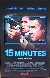 15 MINUTES original issue rolled 1-sheet movie poster