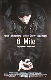 8 MILE original issue rolled 1-sheet movie poster