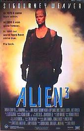 ALIEN 3 original issue Australian folded 1-sheet movie poster.