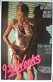 9 1/2 WEEKS original issue rolled International 1-sheet movie poster