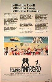 AMARCORD original issue rolled 1-sheet movie poster