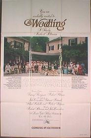 A WEDDING original issue folded 1sheet movie poster
