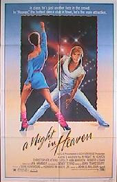A NIGHT IN HEAVEN original issue folded 1-sheet movie poster