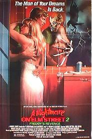 A NIGHTMARE ON ELM STREET 2 original issue folded 1-sheet movie poster