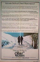 A BRIEF VACATION original issue folded 1-sheet movie poster