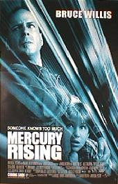 MERCURY RISING 1998 original issue rolled double sided 1-sheet movie poster
