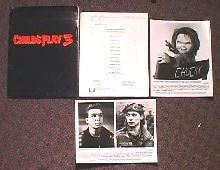 CHILD'S PLAY 3 original issue movie presskit