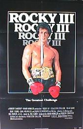ROCKY III original issue folded 1-sheet movie poster