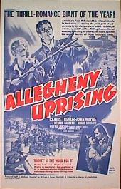 ALLEGHENY UPRISING original folded 1-sheet movie poster