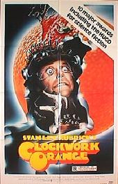 A CLOCKWORK ORANGE reissue folded 1-sheet movie poster
