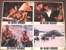 ON DEADLY GROUND original issue 11x14 lobby card setq