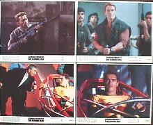 RUNNING MAN,THE original issue 8x10 lobby card set
