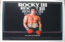ROCKY III  original issue 22x28 rolled movie poster
