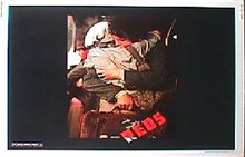 REDS original issue 22x28 rolled movie poster
