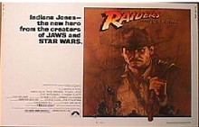 RAIDERS OF THE LOST ARK original issue 22x28 rolled movie poster