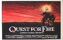 QUEST FOR FIRE original issue 22x28 rolled movie poster