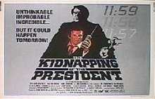 kIDNAPPING OF THE PRESIDENT,THE original issue 22x28 rolled movie poster