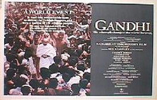 GANDHI original issue 22x28 rolled movie poster