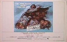 EMPIRE STRIKES BACK Style B original issue 22x28 rolled movie poster