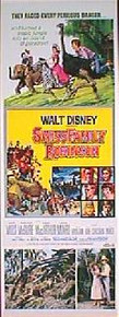 SWISS FAMILY ROBINSON original Reissue 14x36 rolled movie poster