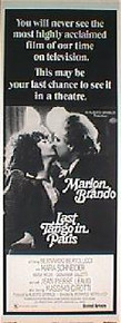 LAST TANGO IN PARIS original issue 14x36 style C rolled movie poster
