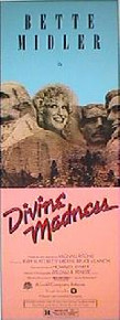 BETTE MIDLER IS DIVINE MADNESS original issue 14x36 movie poster