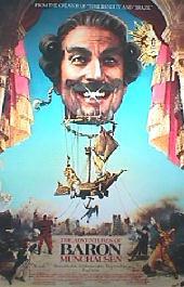 ADVENTURES OF BARON MUNCHAUSEN original issue rolled Regular 1-sheet movie poster